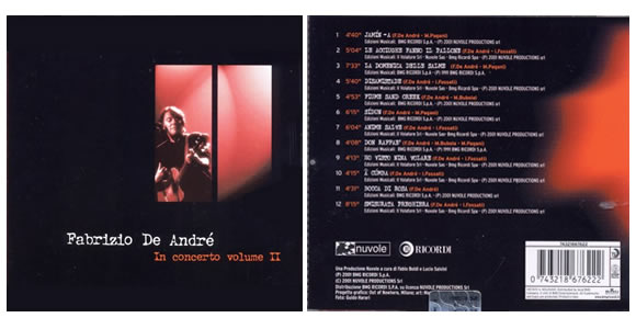 De Andrè in concerto, volume 2
