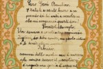 Bigliettino a Gesù Bambino, manoscritto di De Andrè, 1948/49 :: Archivio Fondazione De Andrè