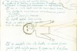 La canzone del maggio, manoscritto di De Andrè con disegni di Cristiano :: Archivio Fondazione De Andrè