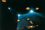 Fabrizio in concerto, tour Le Nuvole, 1993 :: foto di Guido Harari