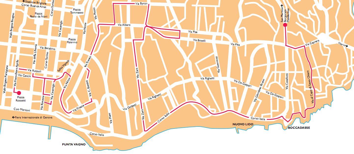 Mappa del quartiere della Foce e dintorni