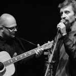 """Ascanio Celestini e Alessio Lega al festival """"Fino al Cuore della Rivolta"""". Museo della Resistenza, Fosdinovo (MS). 31 luglio 2010  BN: Kodak Gray Scale 1 - senza filtro - 2,3"""